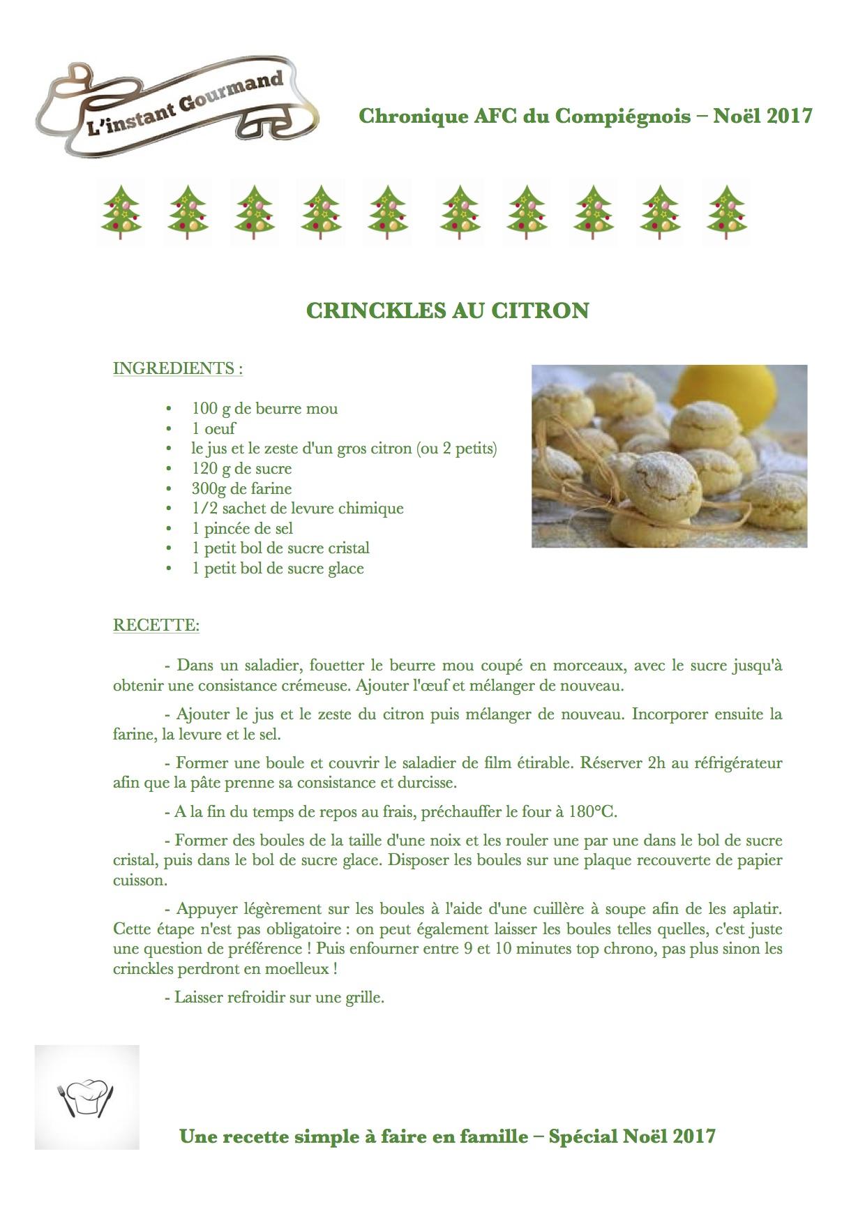 Crinckles au citron