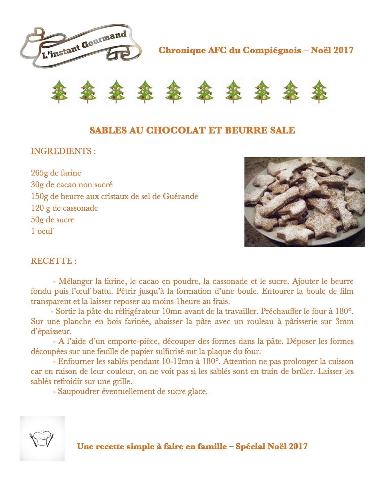 Sablés au chocolat et beurre salé