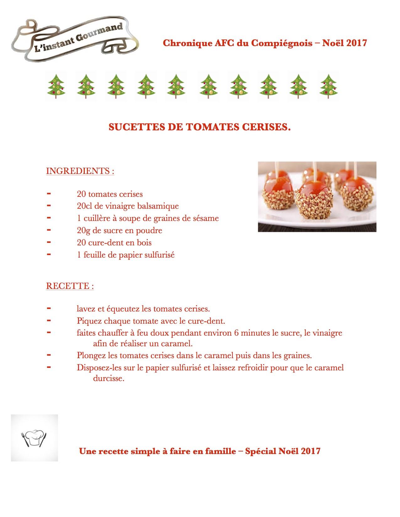 Sucettes de tomates cerises
